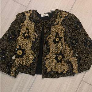 Vintage An Elegant Event beaded sequin jacket